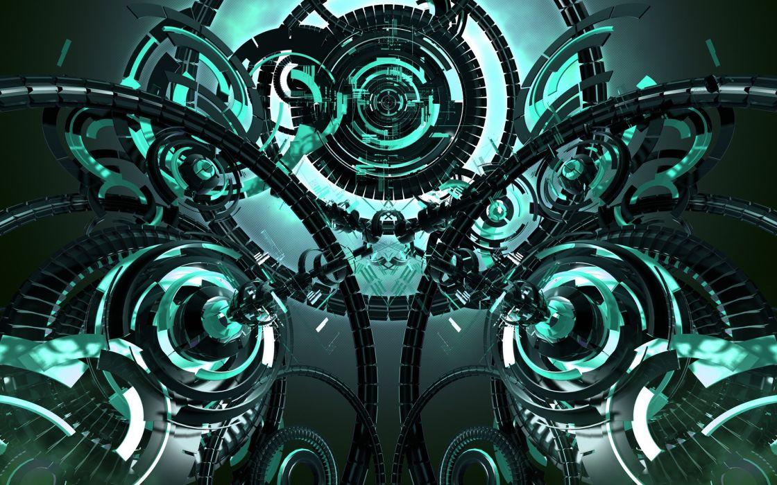 Abstract futuristic technology mechanism wallpaper