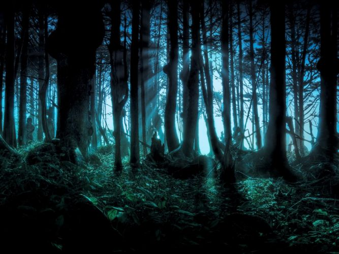 Forest halloween scary pacific wallpaper