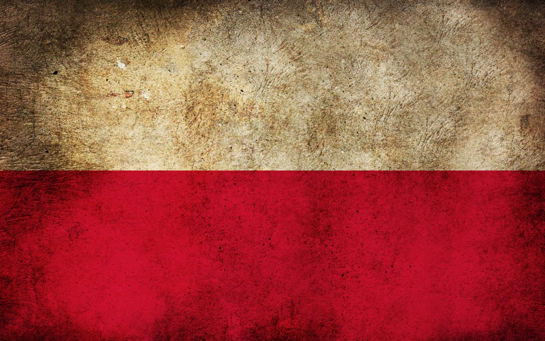 Red white grunge flags polish poland wallpaper