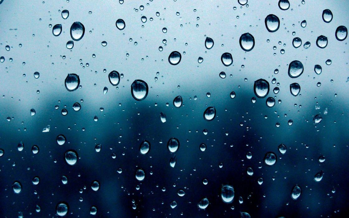 Rain weather water drops condensation rain on glass wallpaper