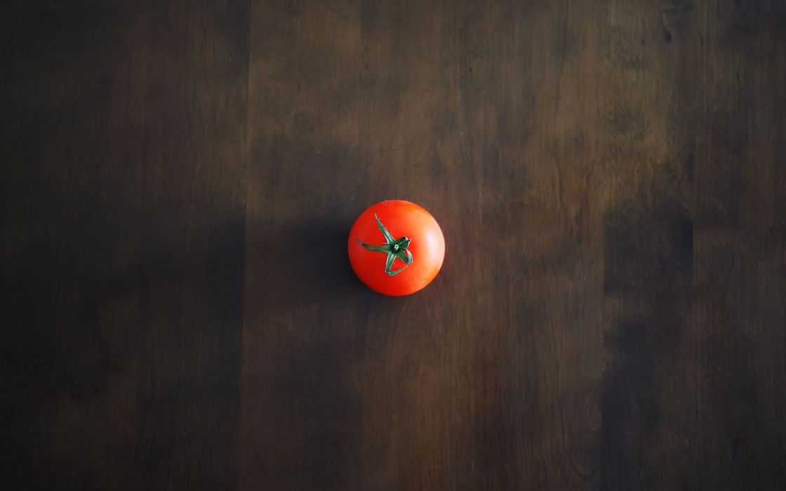 Minimalistic tables tomatoes  wallpaper