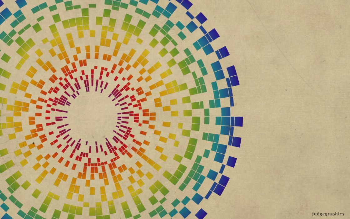 Abstract multicolor geometry beige wallpaper
