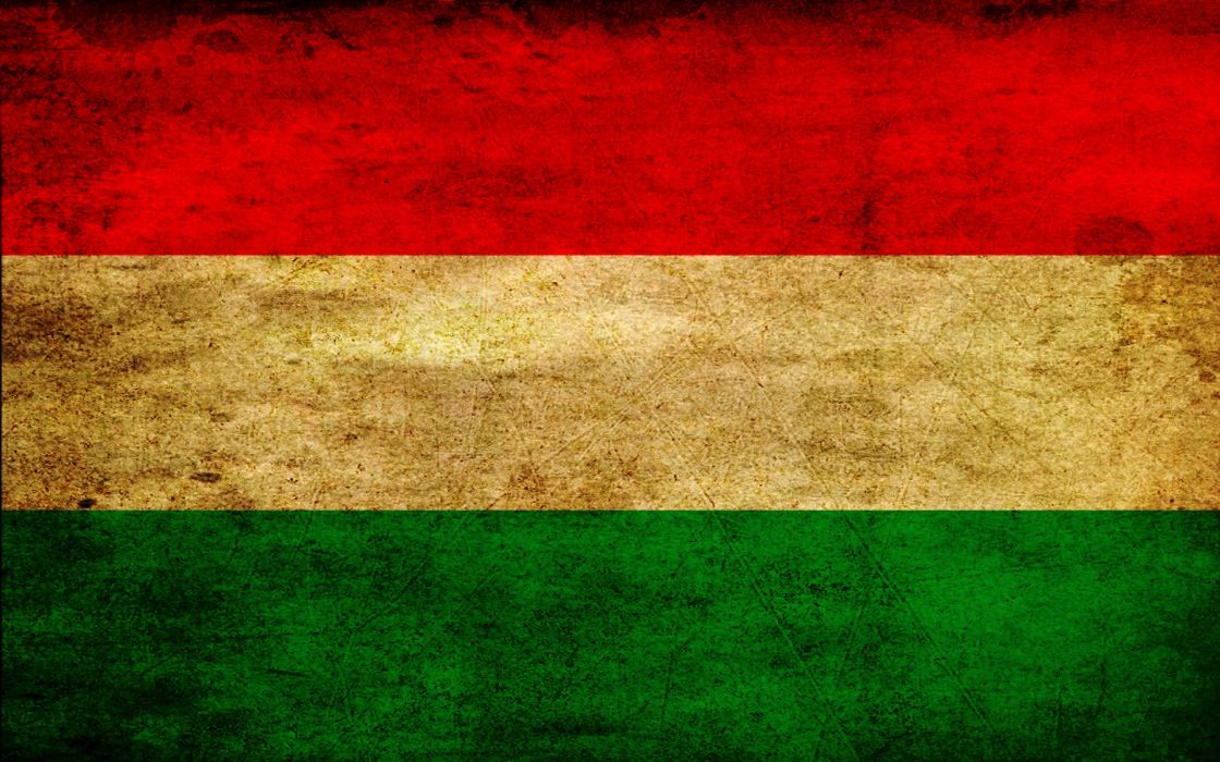 Grunge hungary flags wallpaper