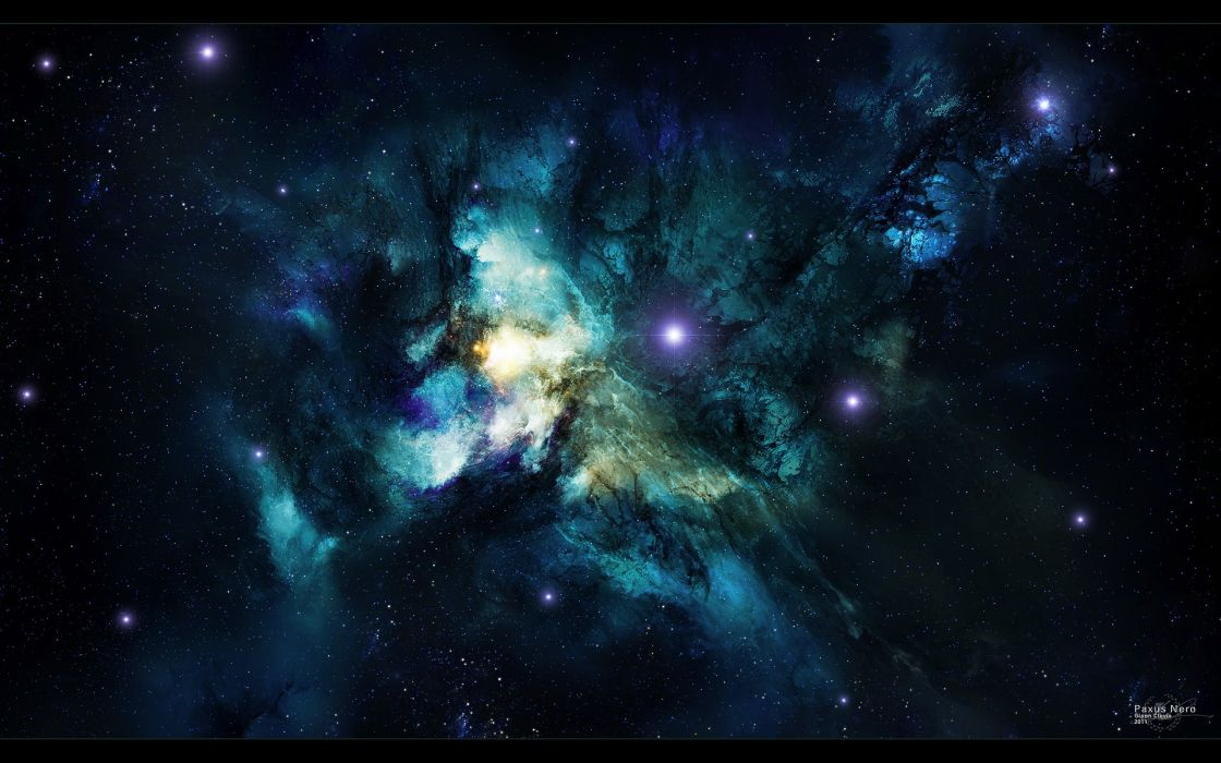 Outer space stars nebulae space art wallpaper