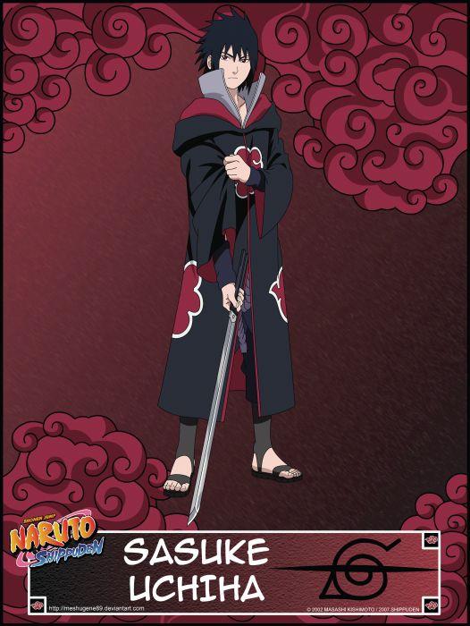 Uchiha Sasuke Naruto Shippuden Akatsuki Sharingan Wallpaper