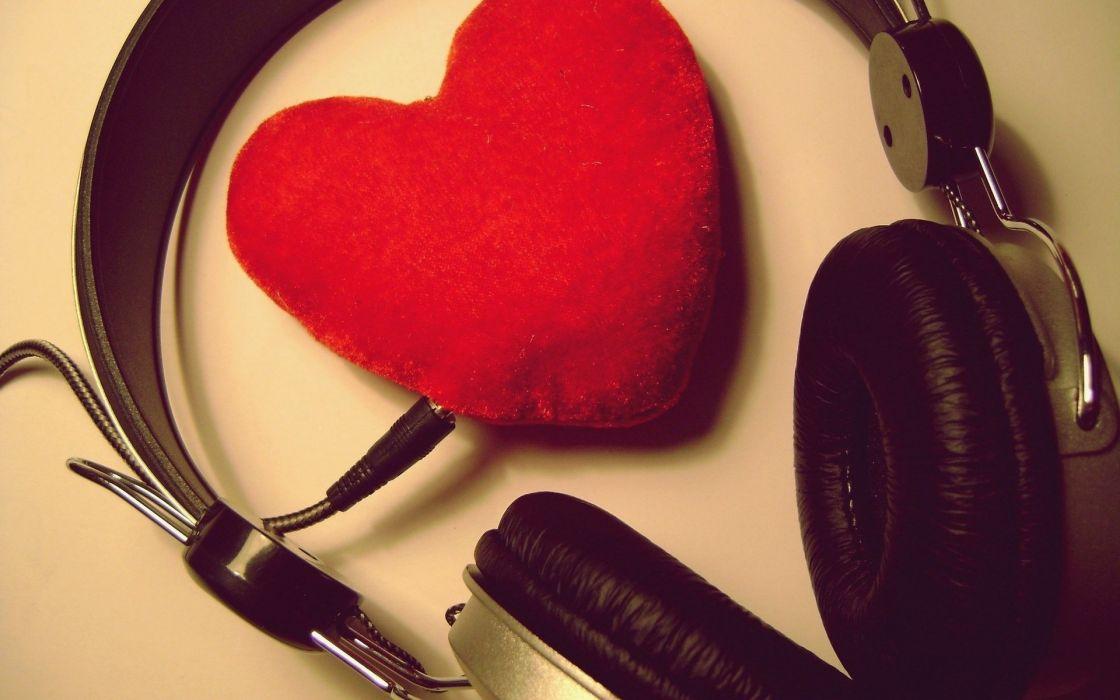 Love music headset wallpaper