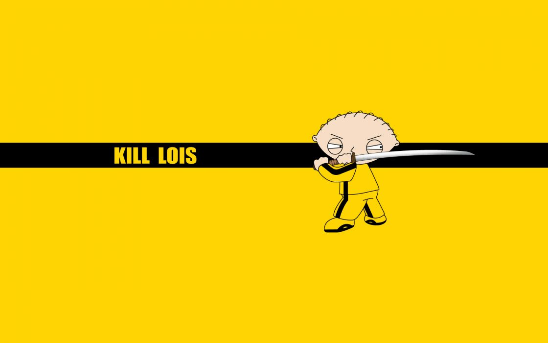Family guy kill bill stewie griffin crossovers wallpaper