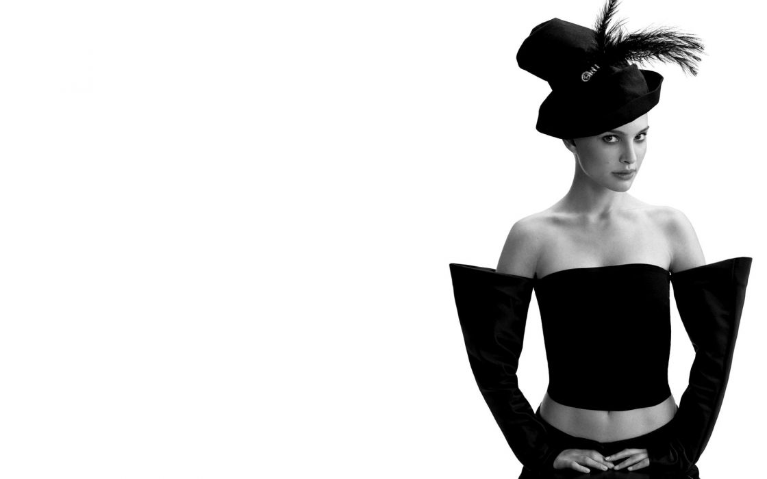 Women actress natalie portman grayscale monochrome white background wallpaper