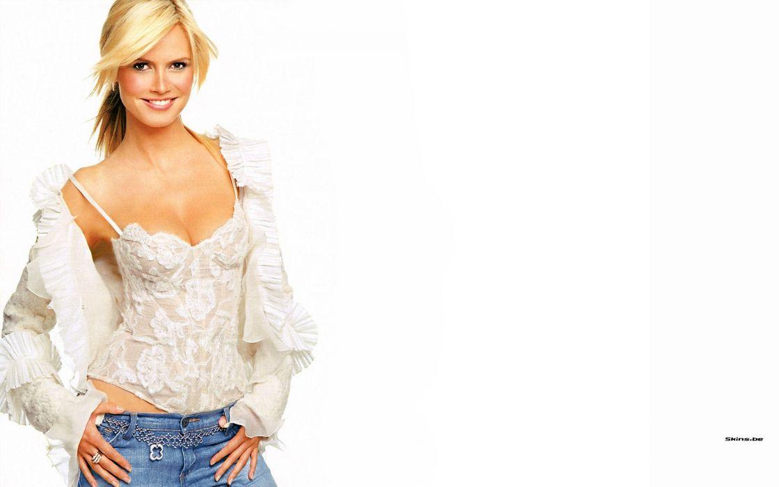 Blondes women heidi klum celebrity wallpaper