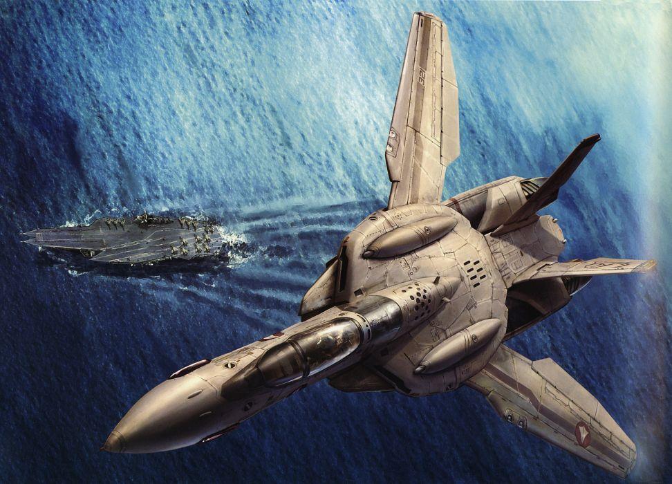 Macross fighter valkyrie robotech wallpaper