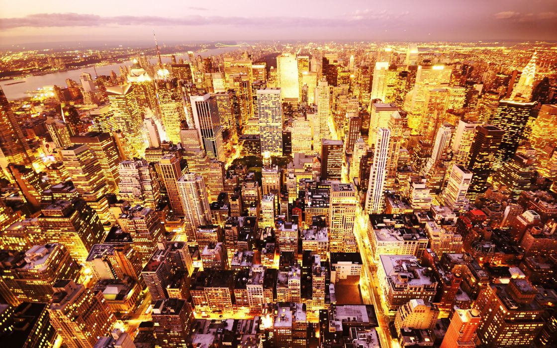 Cityscapes lights usa wallpaper