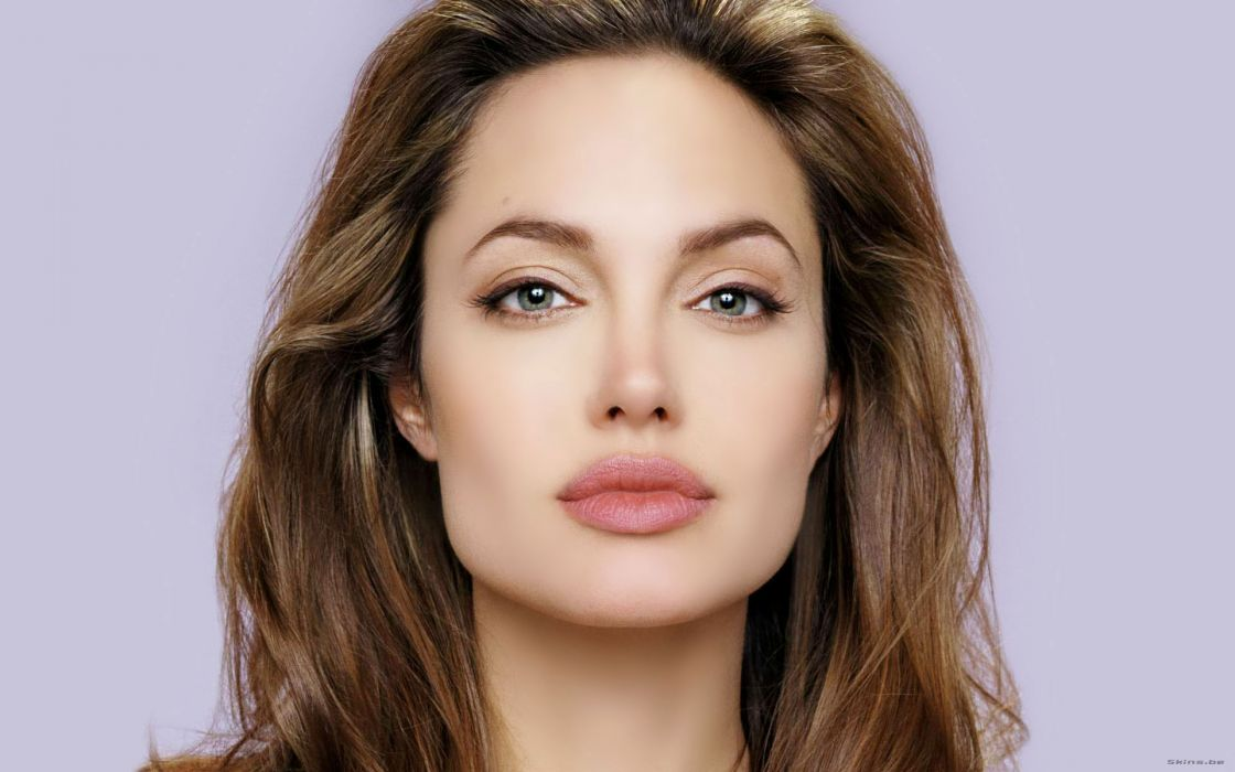 Women actress angelina jolie lips green eyes faces wallpaper