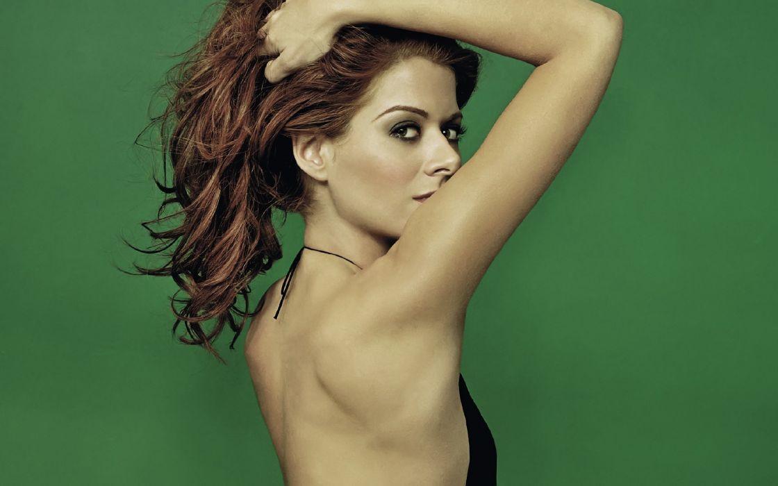 Brunettes women debra messing naked back wallpaper