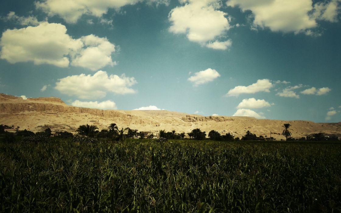 Clouds landscapes fields wallpaper