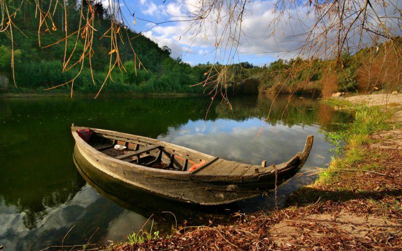 Landscapes boats lakes wallpaper