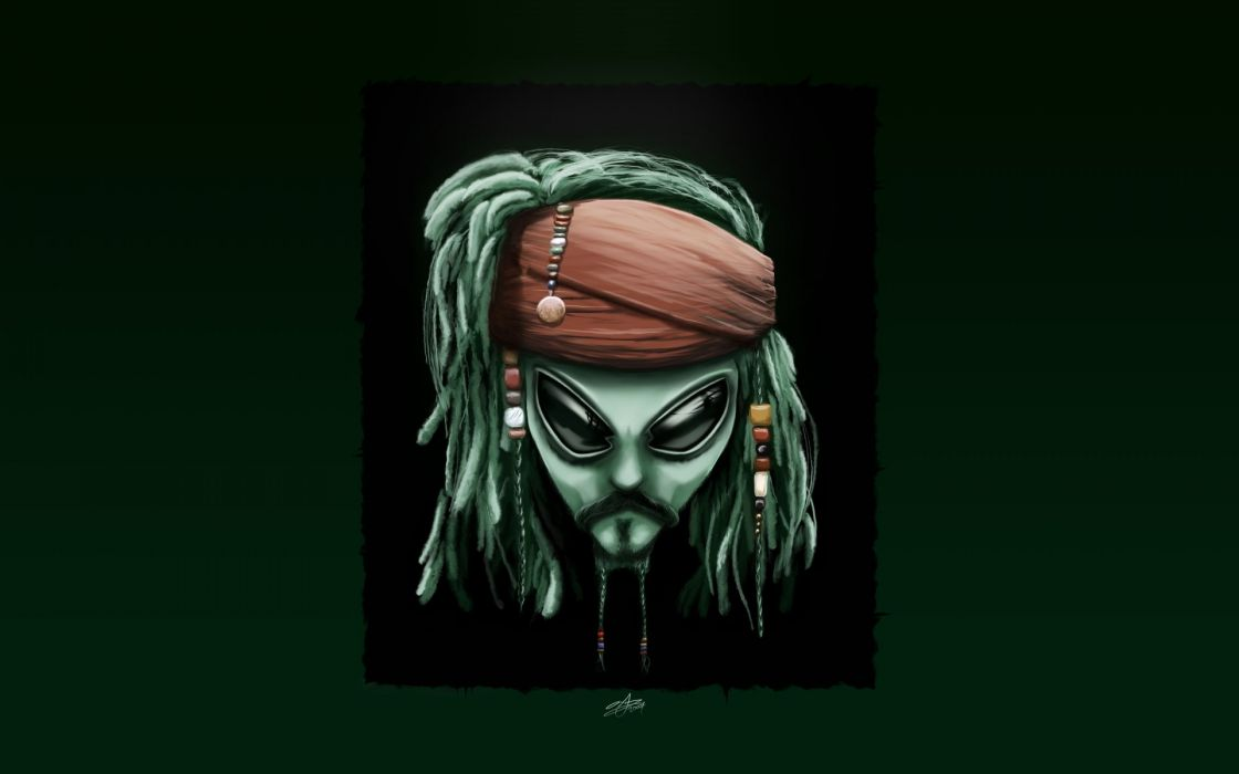 Alienware johnny depp digital art