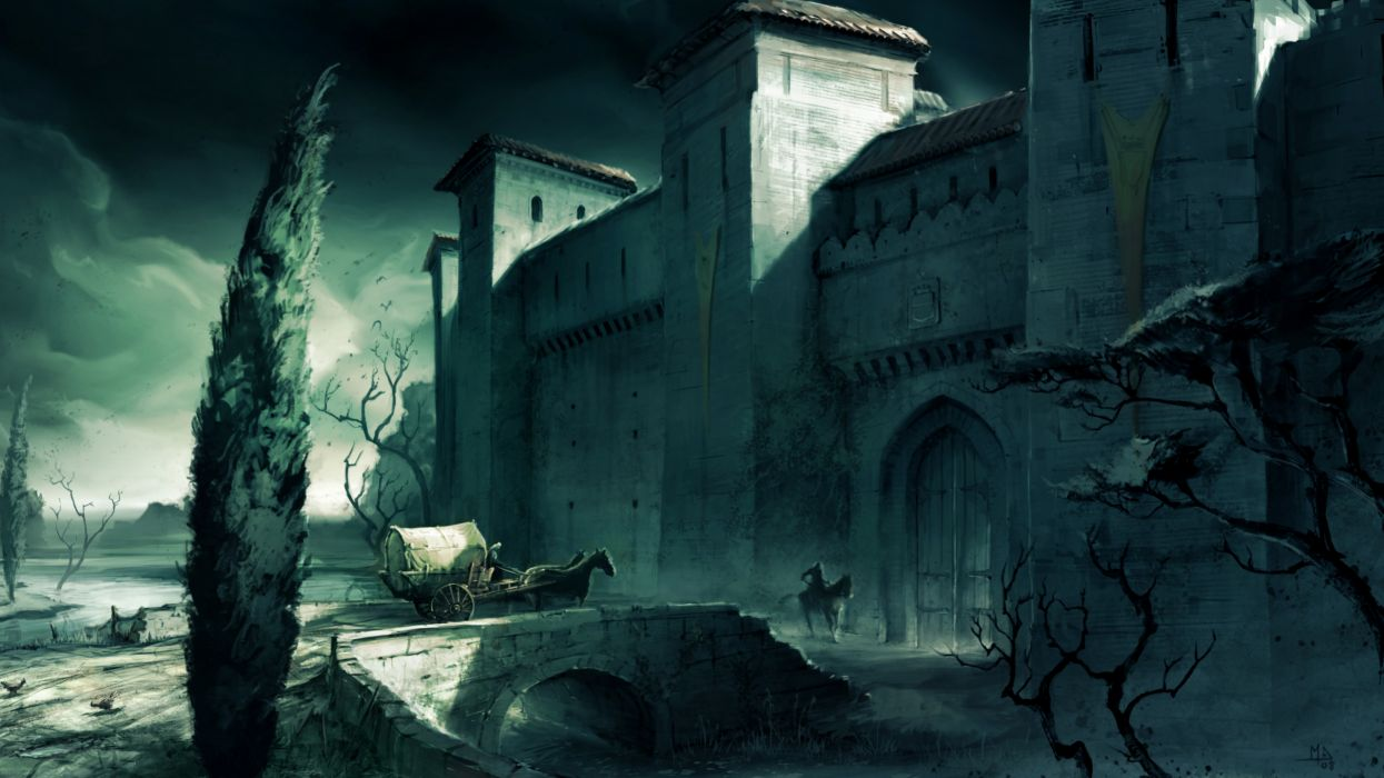 Castles assassins creed artwork wallpaper