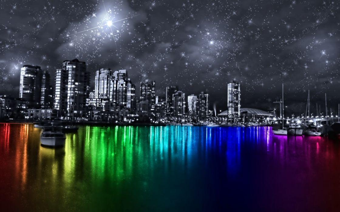 Multicolor vancouver cities wallpaper