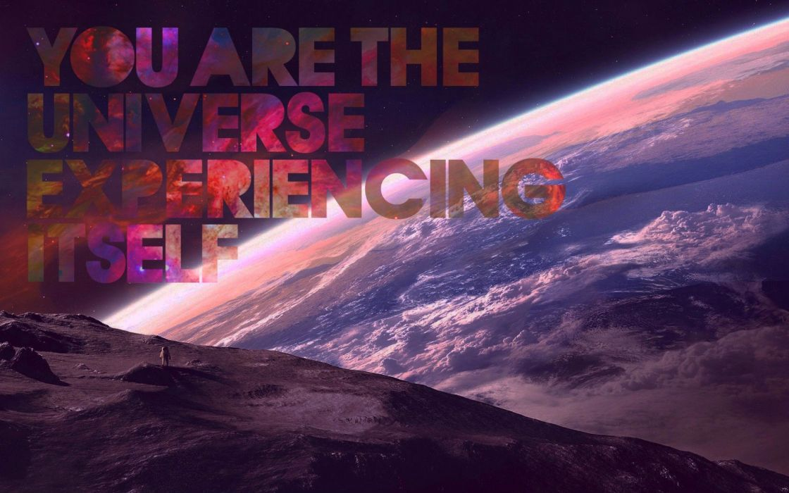 Outer space quotes earth typography wallpaper