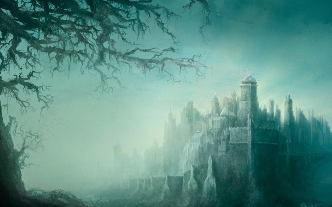 Castles fantasy art wallpaper