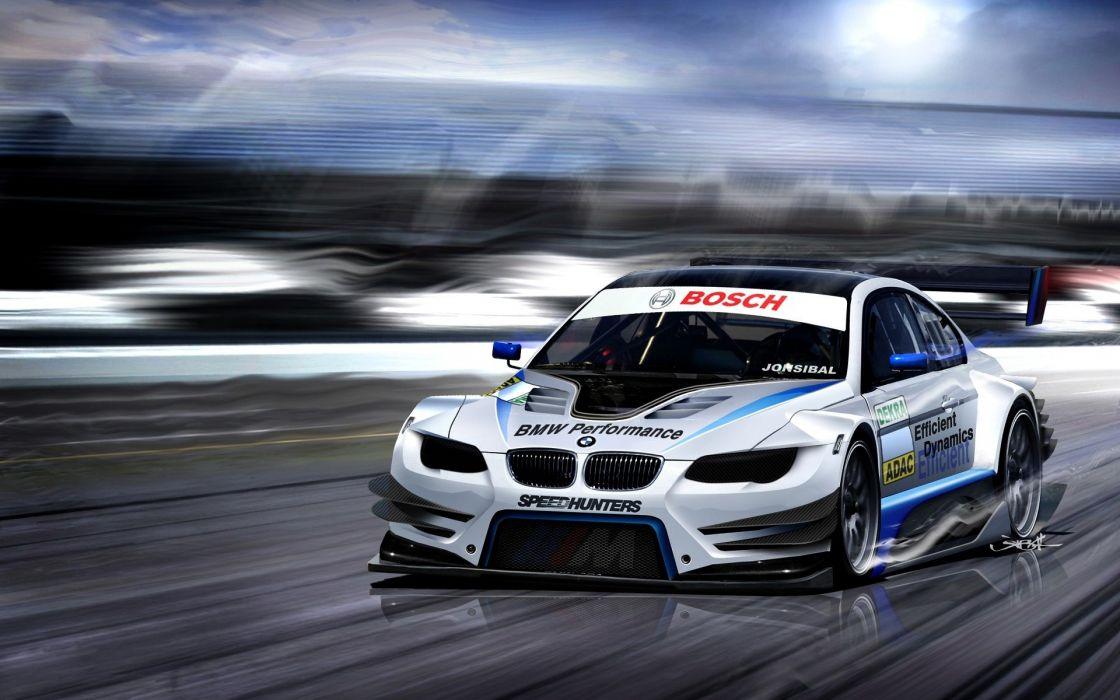 Bmw cars roads racing wallpaper