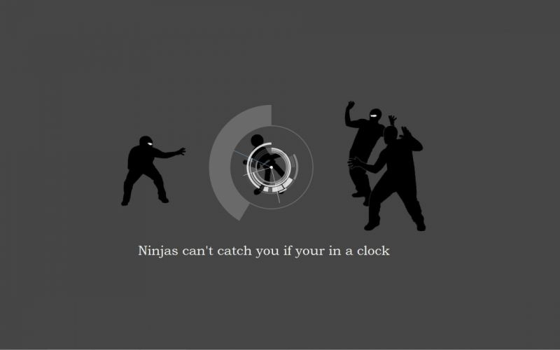 Ninjas ninjas cant catch you if grammar wallpaper