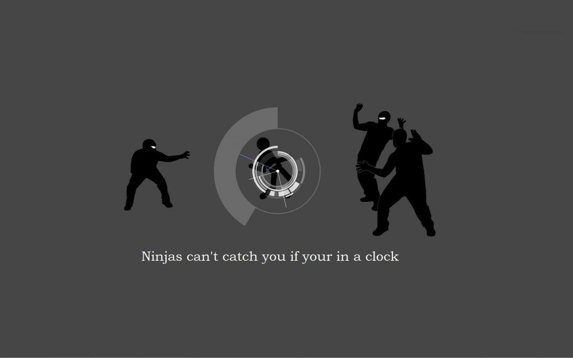 Ninjas ninjas cant catch you if grammar wallpaper