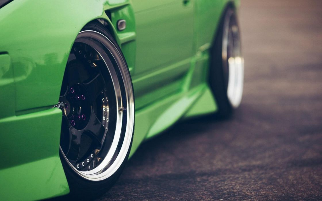 Vintage rims green cars wallpaper