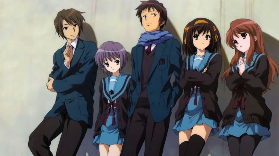The melancholy of haruhi suzumiya suzumiya haruhi wallpaper