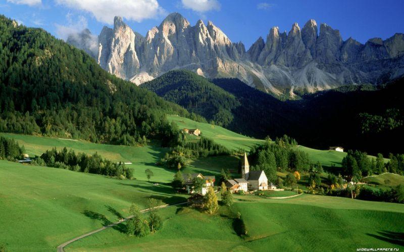 Mountains landscapes nature grass wallpaper