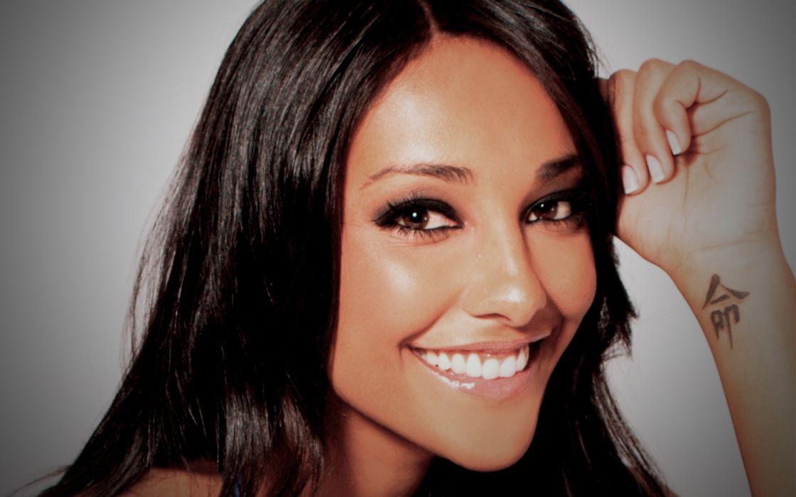 Brunettes tattoos women smiling faces juliana moreira wallpaper
