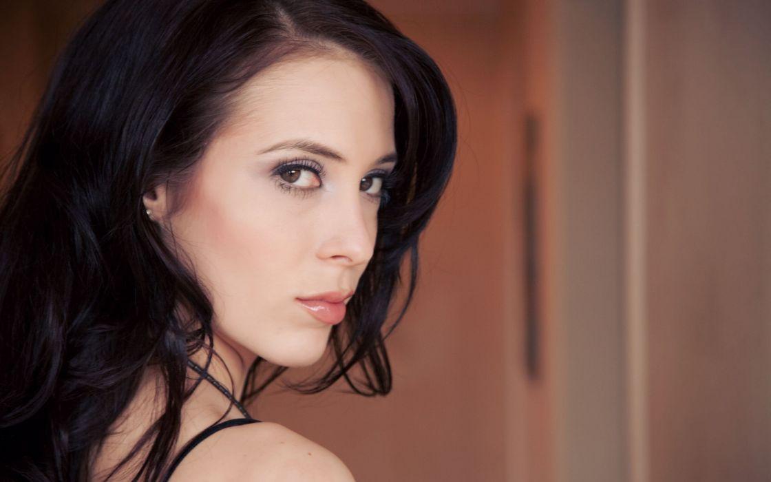 Brunettes women models faces aiden ashley wallpaper
