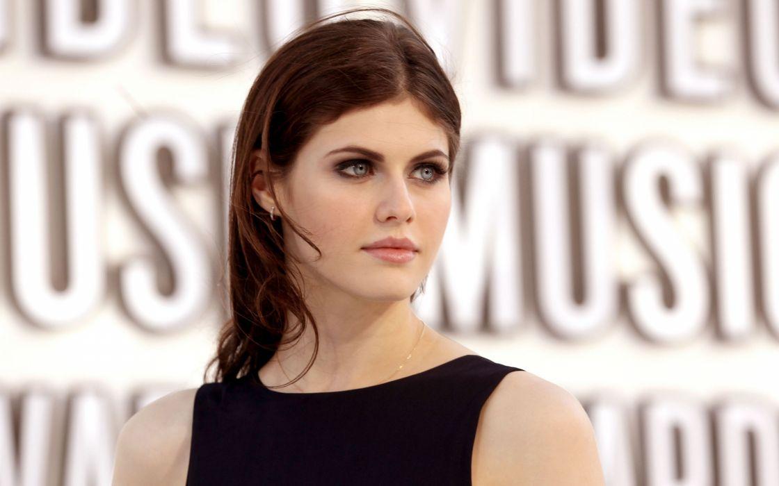 Brunettes women blue eyes actress faces alexandra daddario wallpaper