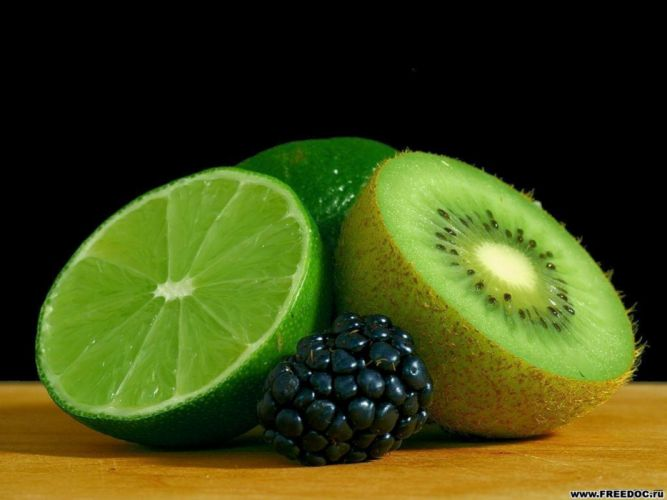 Fruits kiwi limes wallpaper