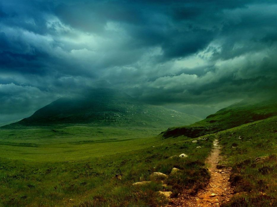 Nature trail villages skyscapes cloud wallpaper