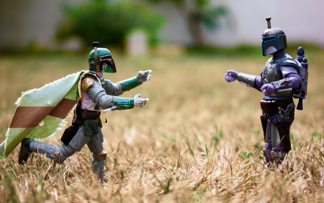 Star wars nature love boba fett action figures wallpaper