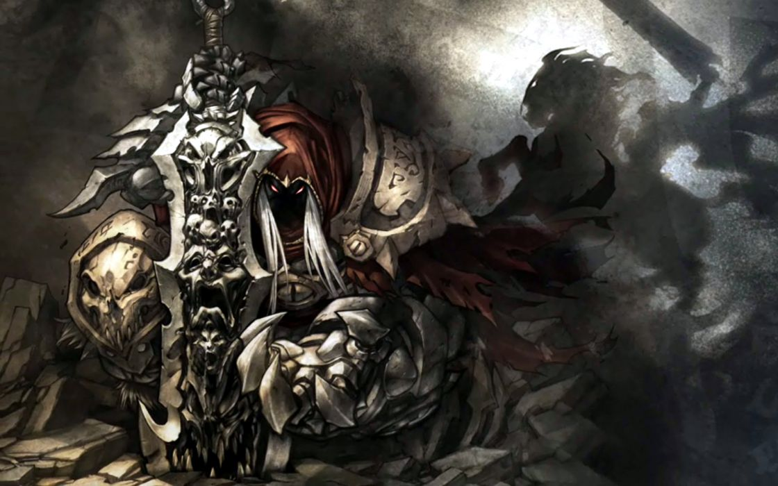 War weapons darksiders artwork swords games wallpaper