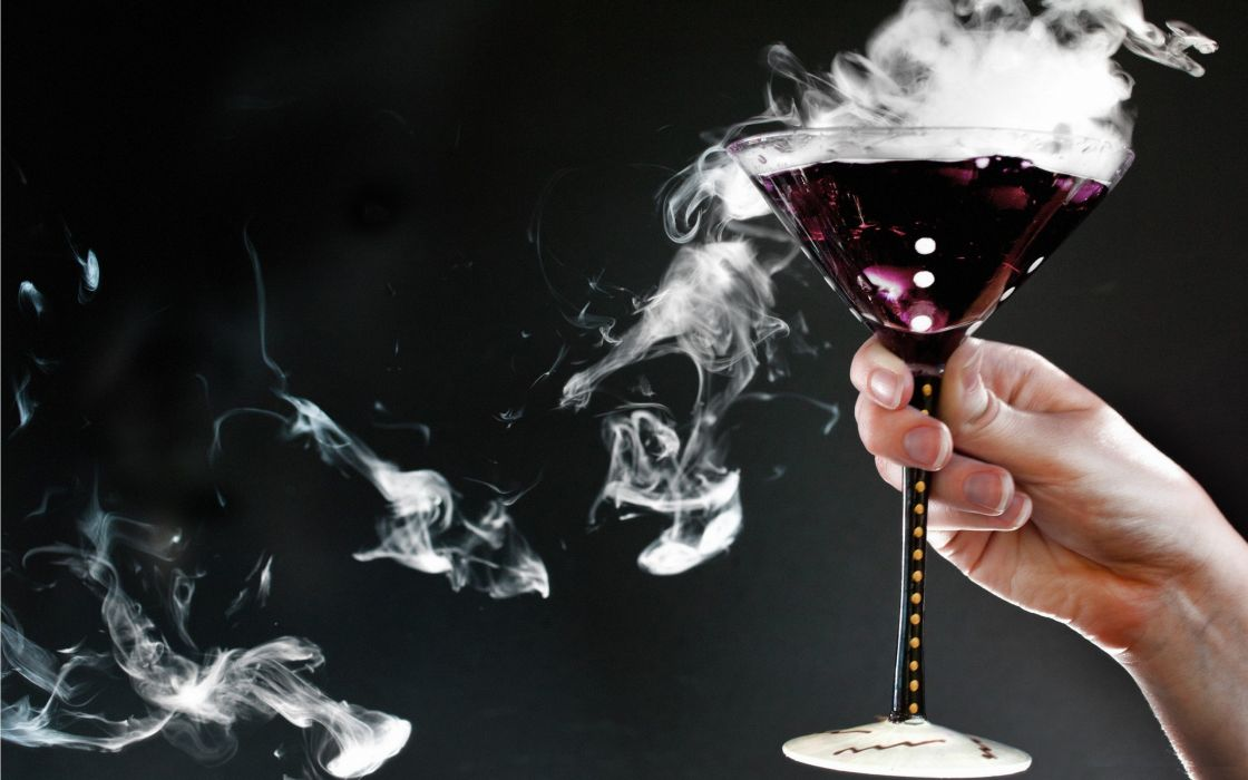 Studio smoke hands poison drinks wallpaper