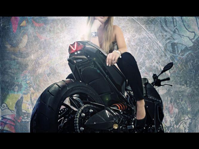 Blondes women bmw bike predator studio models custom bmw f800 r predator wallpaper