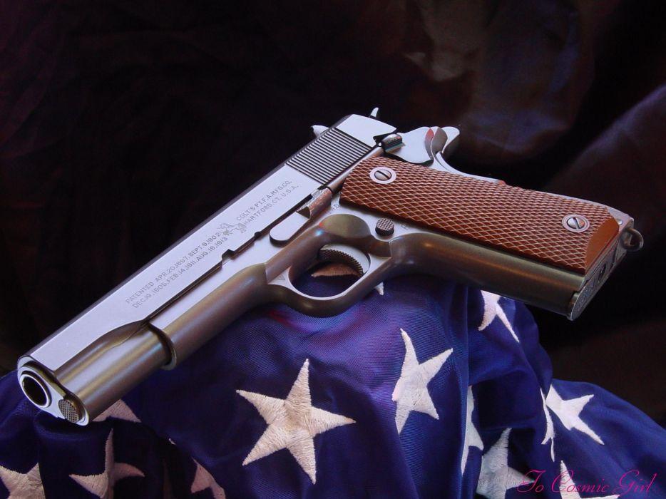 Guns Weapons Handguns Colt 1911 Wallpaper