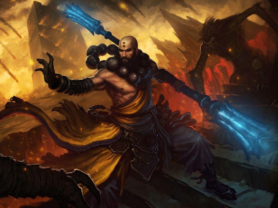 Video games diablo artwork diablo iii monk shaolin wallpaper