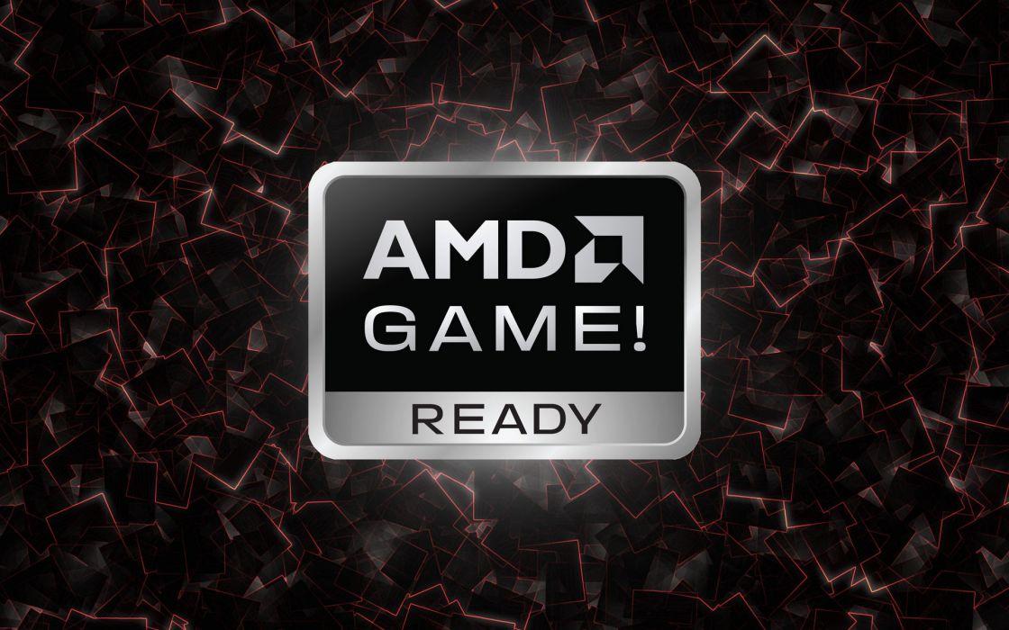Text amd games wallpaper