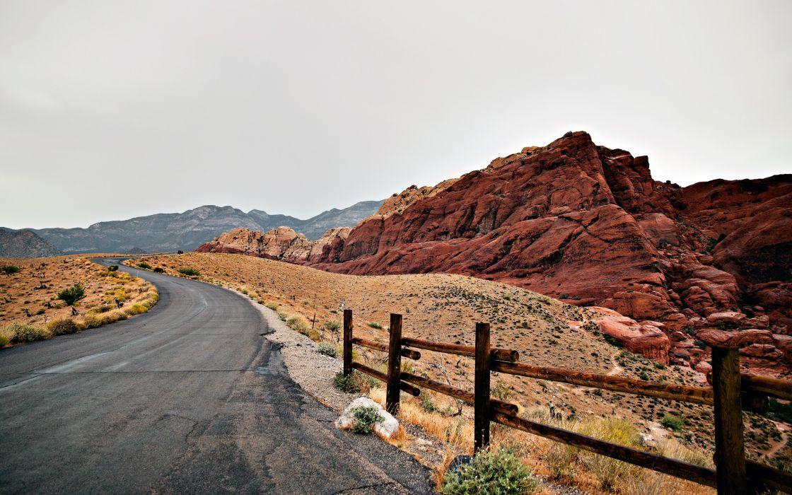 Landscapes roads wallpaper