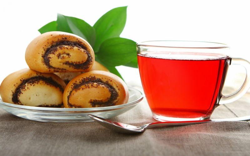 Tea food muffins drinks wallpaper