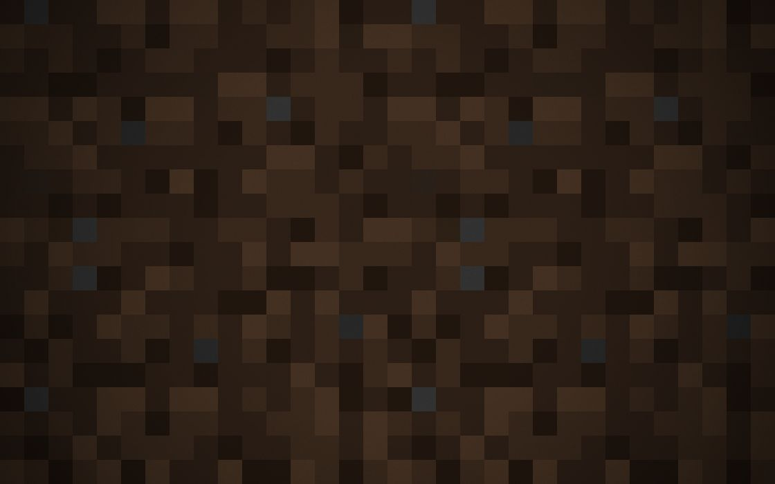 Minimalistic pixels dirt minecraft pixelation simple background wallpaper