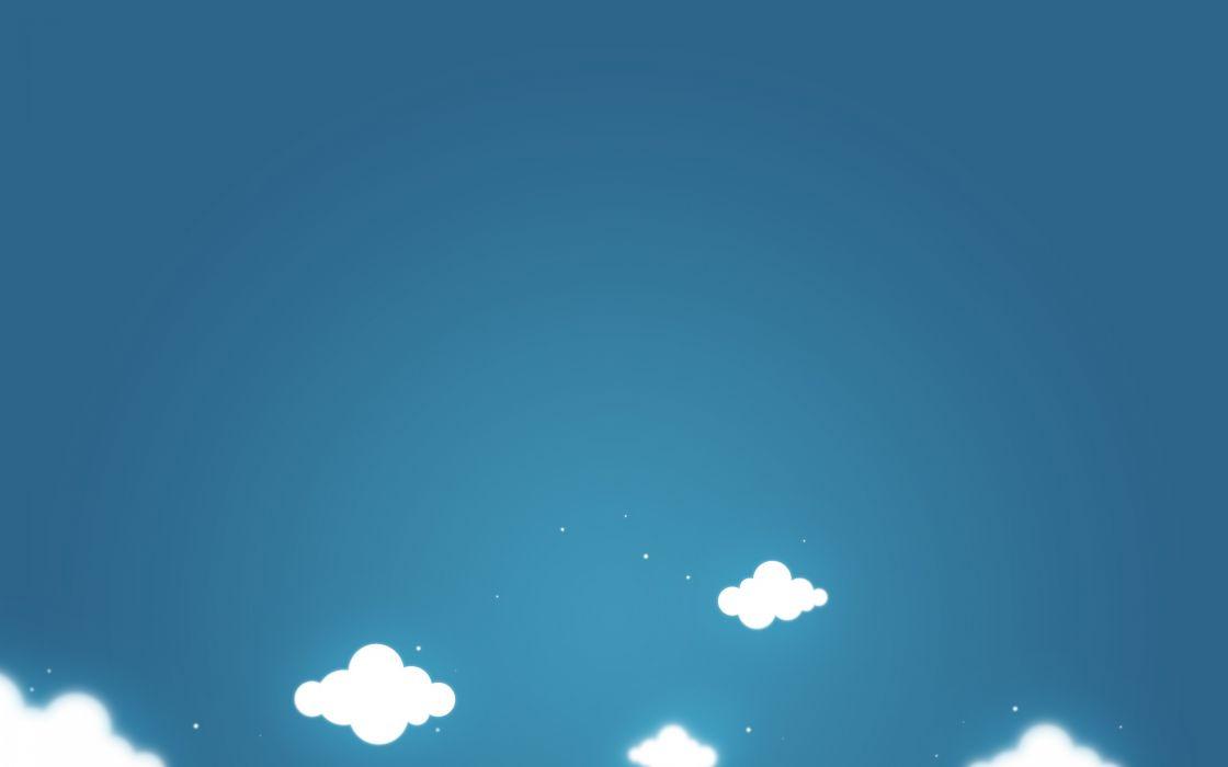 Clouds minimalistic wallpaper