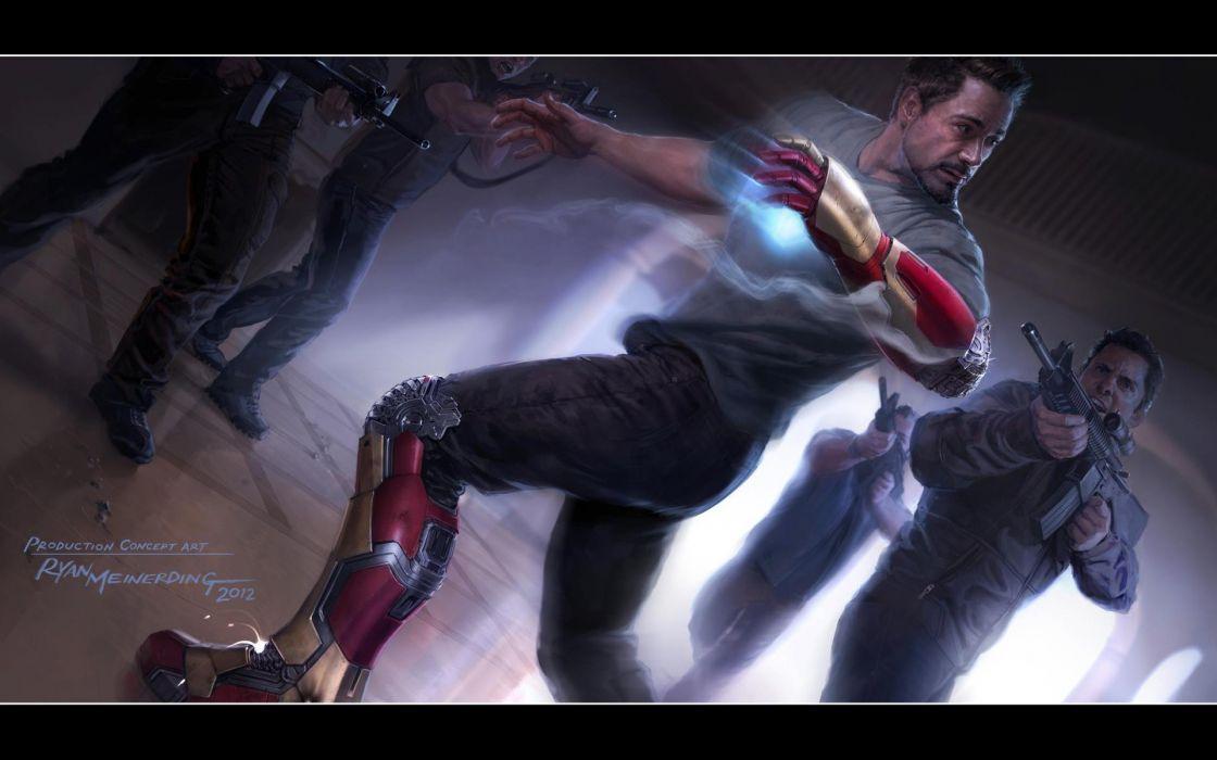 Iron man concept robert downey jr concept art marvel iron man 3 wallpaper