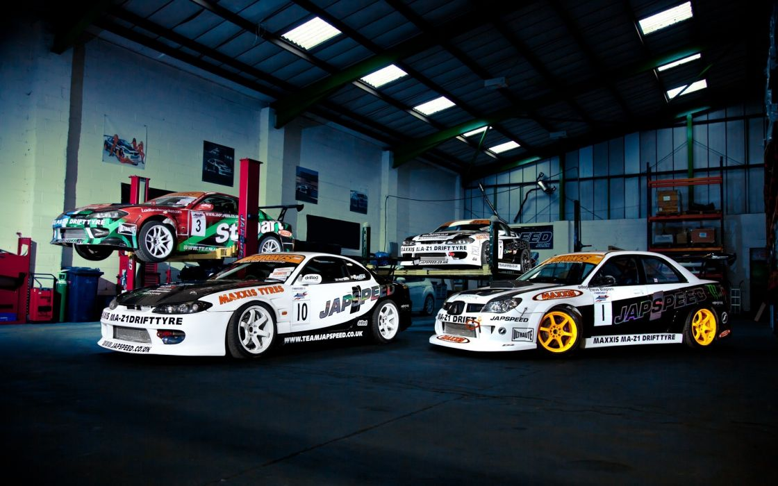 Cars subaru nissan garages racing nissan 240sx nissan silvia s15 wallpaper