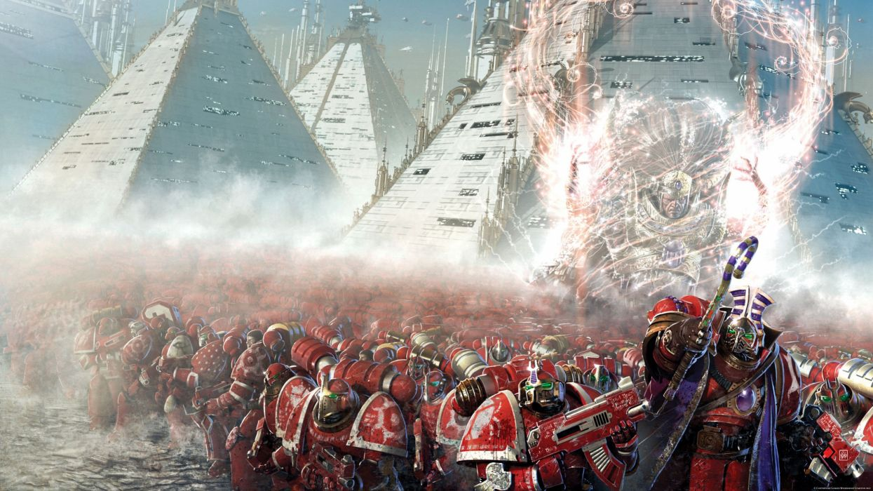 Warhammer 40k space marines science fiction thousand sons wallpaper