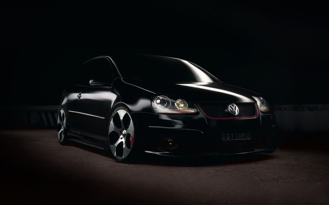 Black and white cars volkswagen gti black cars wallpaper